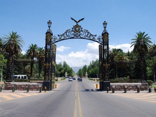 Puerta del parque San Martín, Mendoza